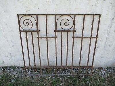 Antique Victorian Iron Gate Window Garden Fence Architectural Salvage Door #056