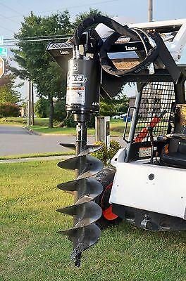 """Bobcat Skid Steer Attachment Lowe BP210 Round Auger Drive with 15"""" Bit-Ship $199"""