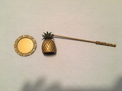 Pineapple Candle Snuffer with Tray PartyLite