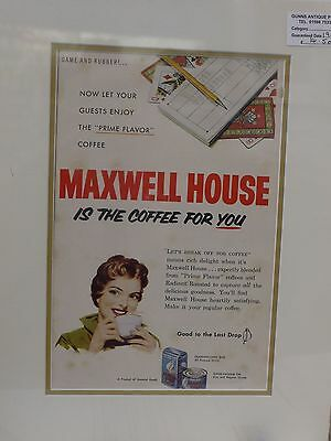 Original 1956 Vintage Advert mounted ready to framed Maxwell House Coffee Bridge