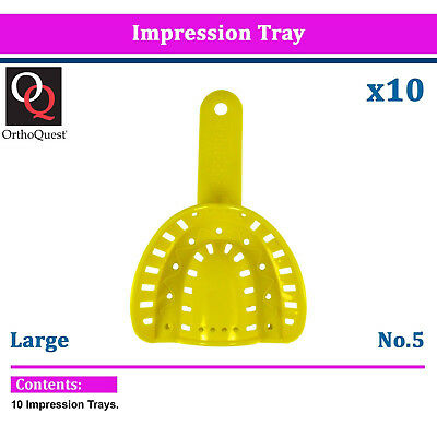 10 OrthoQuest Dental Plastic Trays Impression Model Material orthodontic Large