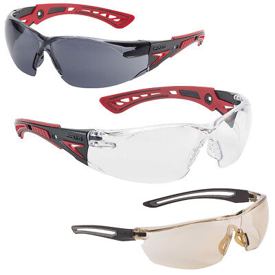 Bolle Rush + Plus Airsoft Shooting Safety Glasses - Clear, Smoked or Twilight