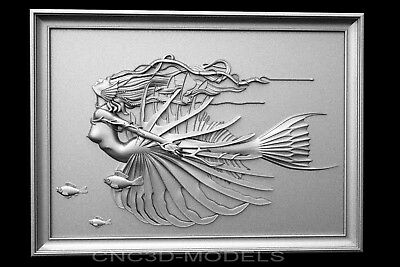 3D Model STL for CNC Router Carving Artcam Aspire Women Girl Flight v656