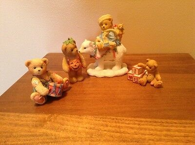 Lot of vintage Cherished Teddies Eric Ronnie Adelaide and I ❤️ You bears