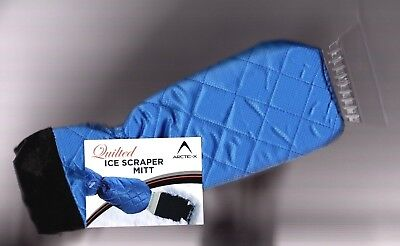 Ice Scraper Snow Mitt removal (brush), Quilted for warmth/comfort