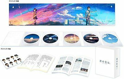 Your Name Kimi no Na wa Collector's Edition 4K Ultra HD 5 Blu-ray Booklet F/S
