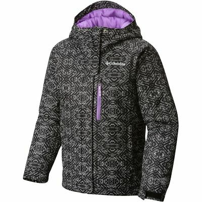 NWT Columbia Girls insulated winter hooded jacket coat Omni heat S (8) M (10/12)