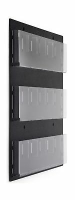 Displays2go Wall Mounted Literature Rack, Hanging with Adjustable Pockets, 29...