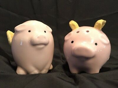 Boston Warehouse Flying Pigs Salt and Pepper Shaker Set Pigs with Wings