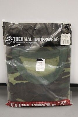 Ultra Force Thermal Woodland Camo Top, 2XL, NEW!
