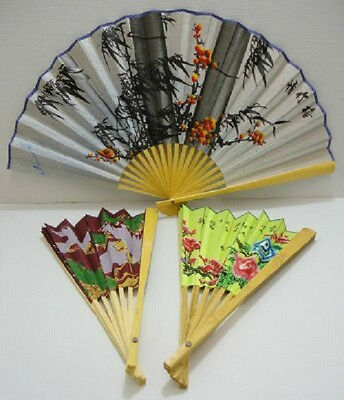 "1 Brand New Very Large 19"" X 35"" Folding Chinese , Oriental Fan, Wedding,vintage"
