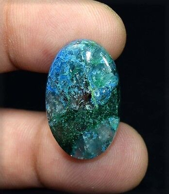 32.35 Cts. 100 % Natural  Chrysocolla Oval Cabochon Untreated Loose Gemstones