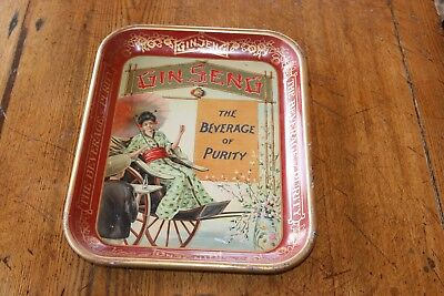 Antique Ginseng The Beverage of Purity Serving Tray Advertising