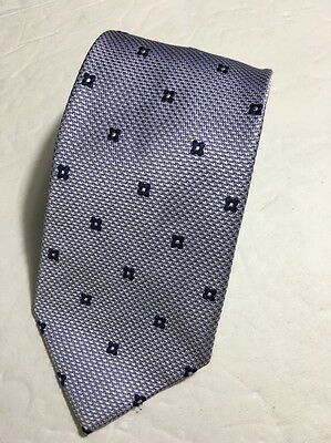 Jos A Bank tie Purple and Blue with geometric shapes, made in Italy