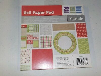 We R Memory Keepers Yuletide 6X6 Paper Pad Christmas Winter 36 Sheets A7654