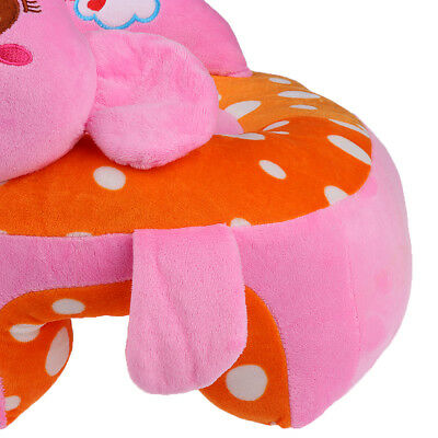 2Pcs Cute Baby Support Seat Soft Car Pillow Cushion Safety Sofa Plush Toy