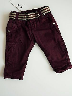 Steiff Mini Boy  Hose gr. 62 / 3 Monate  purple ✬ Neu ✬