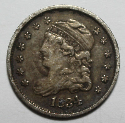 1834 Capped Bust Half Dime WW27