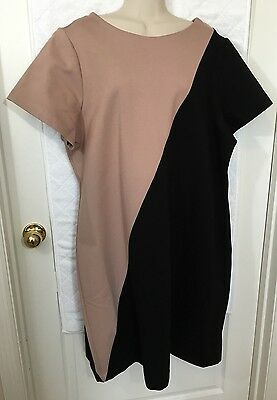cd62337d34017 MYNT 1792 Dress Plus size 20W Beige and Black stretchy material BRAND NEW