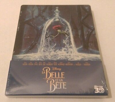 La belle et la Bête (2017) Disney steelbook blu-ray 2D+ 3D  - neuf  version FR