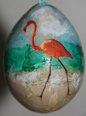 gourd ornament or vacation souvenier with flamingo