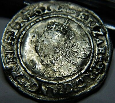 TUDOR PERIOD 1569 ELIZABETH 1ST SILVER SIXPENCE ROSE BESIDE BUST MM CROWN (ju16
