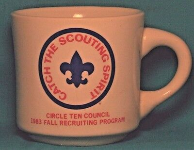BOY SCOUTS Catch the Scouting Spirit Circle Ten Council 1983 COFFEE CUP / MUG