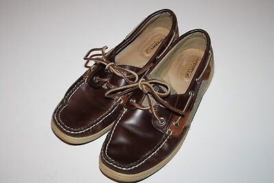 442668daa0647 SPERRY TOP SIDER Women s Bluefish Boat Shoes Brown Leather Size 8 M ...