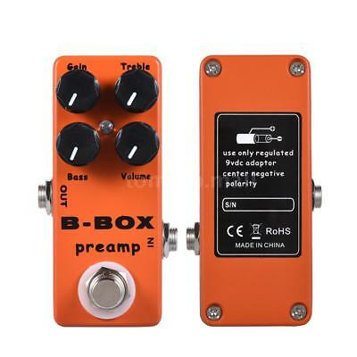 Mini Electric Guitar Preamp Overdrive Effect Pedal Orange Metal True Bypass D1V4