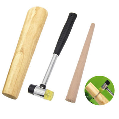New Oval Wood Bracelet Mandrel Bangle Jewelry Hammering Forming Shaping Tool