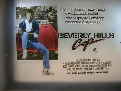 BEVERLY HILLS COP '84 Australian cinema movie projector glass slide Eddie Murphy