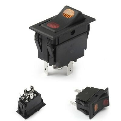 12VDC Lighted Rocker Switch for Polarity Reversing DC Motor Control, ON OFF ON