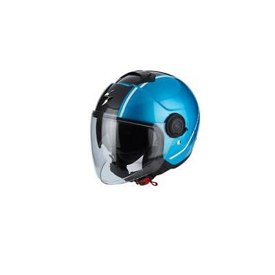 Scorpion EXO City Avenue Jet Helmet 2018 - Light Blue Schwarz Supermoto Street