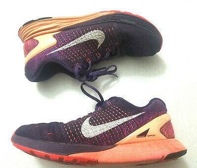 low priced 142db 573cc Nike Lunarglide 7 Women s Running Shoes Sz 9.5 Purple Athletic Training  Sneaker