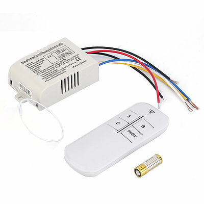 220V 3 Way ON/OFF Digital RF Remote Control Switch Wireless For Light Lamp MRBB