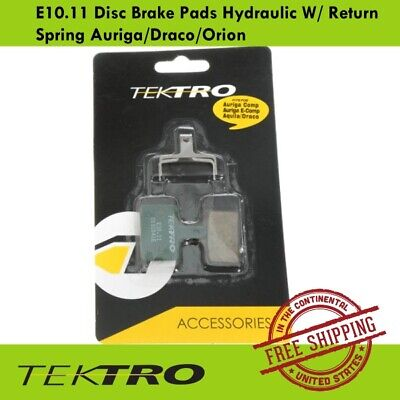 Tektro E10.11 Disc Brake Pads Hydraulic W/ Return Spring Auriga/Draco/Orion