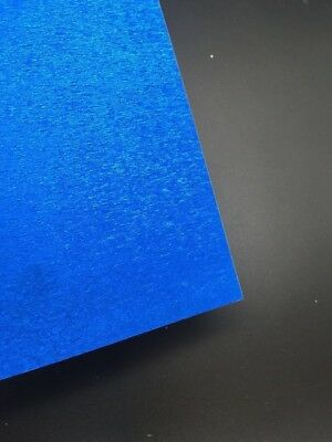 5 X A4 Glitter Cardstock Craft Paper Blue Metallic  Scrapbooking Card Making