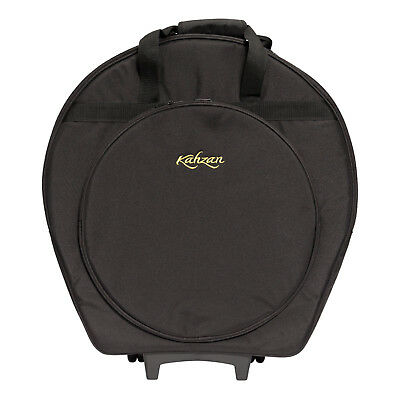 New Kahzan Deluxe Padded Cymbal Trolley Bag Carry Case for Drum Kit (Black)