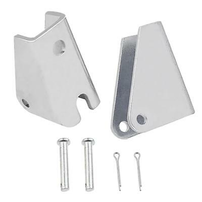 2PCS Silver Mounting Brackets For DC Heavy Duty Linear Actuator Motors