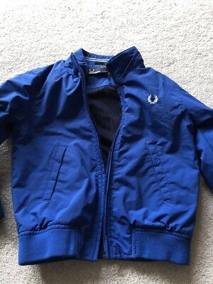 Boys Lightweight Showerproof Coat/ Jacket By Fred Perry Age 2-3 Years