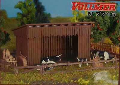 Stable kit N Scale building by Vollmer #7716