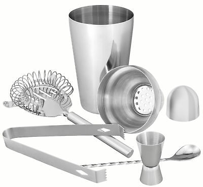 mumbi 5 teiliges Cocktail Mixer Bar Set aus Edelstahl Shaker Cocktailset