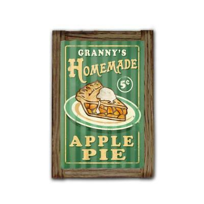 Vintage Metal Sign NOT TIN Home Made Pies Corrugated Framed 16 x 24