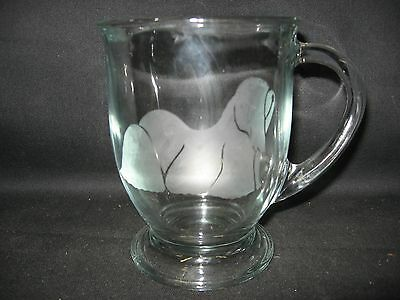 New Etched Lhasa Apso Glass Coffee Hot Chocolate Mug