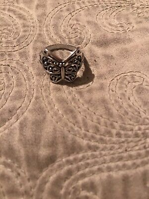 Butterfly Tibetian Style Vintage Silver Ring