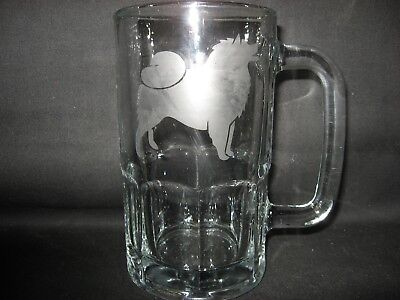 New Etched American Eskimo Glass Root Beer Mug