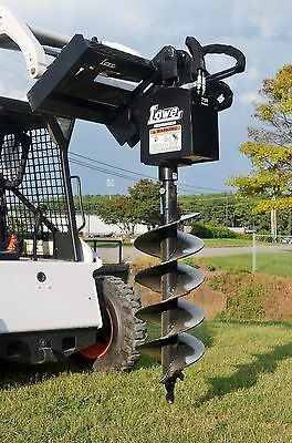 """Bobcat Skid Steer Attachment Lowe 750 Classic Round Auger with 15"""" Bit Ship $199"""