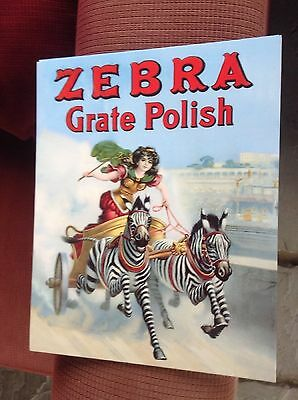 Zebra Polish Grate Large Cardboard Poster/Postcard. New. Reproduction.