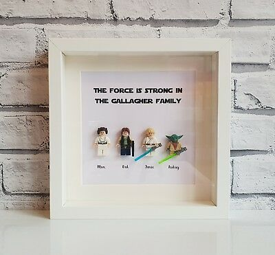 CREATE YOUR OWN LEGO Star Wars Family Frame | Personalised • Fathers ...