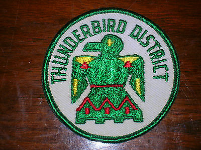 BSA ~ Vintage Boy Scouts Of America ~ Thunderbird District ~ Badge ~ Patch ~ NOS